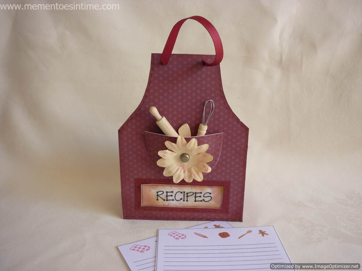 New Chipboard Template Recipe Box And Gift Combined Printables