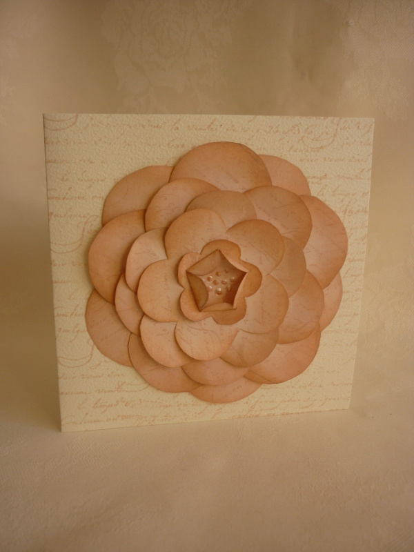 Funky Flower Cards and 'Rambling Rose' Layering Template 1