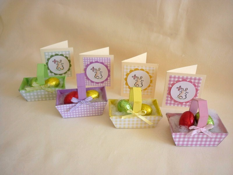 Card Making Ideas Easter Part - 41: Easter Baskets And Mini Cards