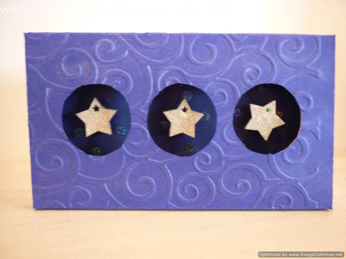 Three Aperture Box Card