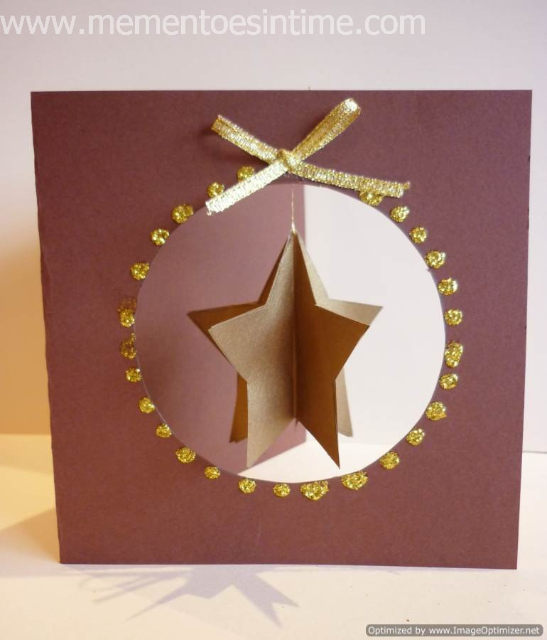 Awesome 3d Card Making Ideas Part - 1: Hanging Layered Star Card