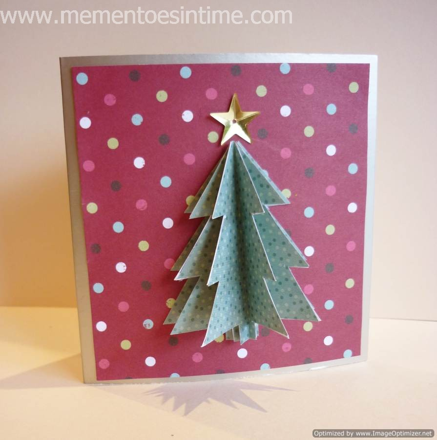 Beautiful 3d Card Making Ideas Part - 2: Layered Tree Card