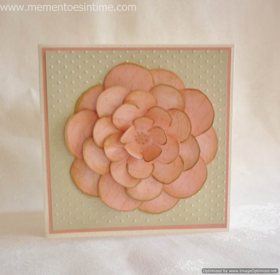 Layered flower cards mementoes in time pink flower card using layering template number 5 mightylinksfo