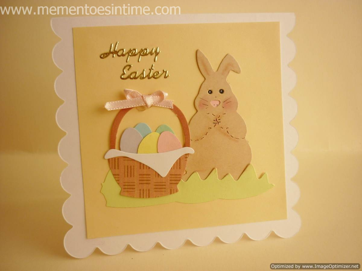 Nice Card Making Ideas Easter Part - 8: Ribbon Egg Cards · Easter Bunnies And Baskets