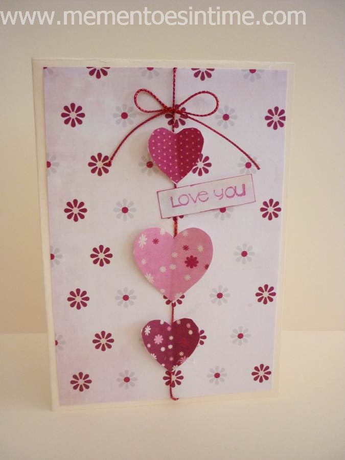 Marvelous Card Making Ideas Love Part - 3: String Of Hearts