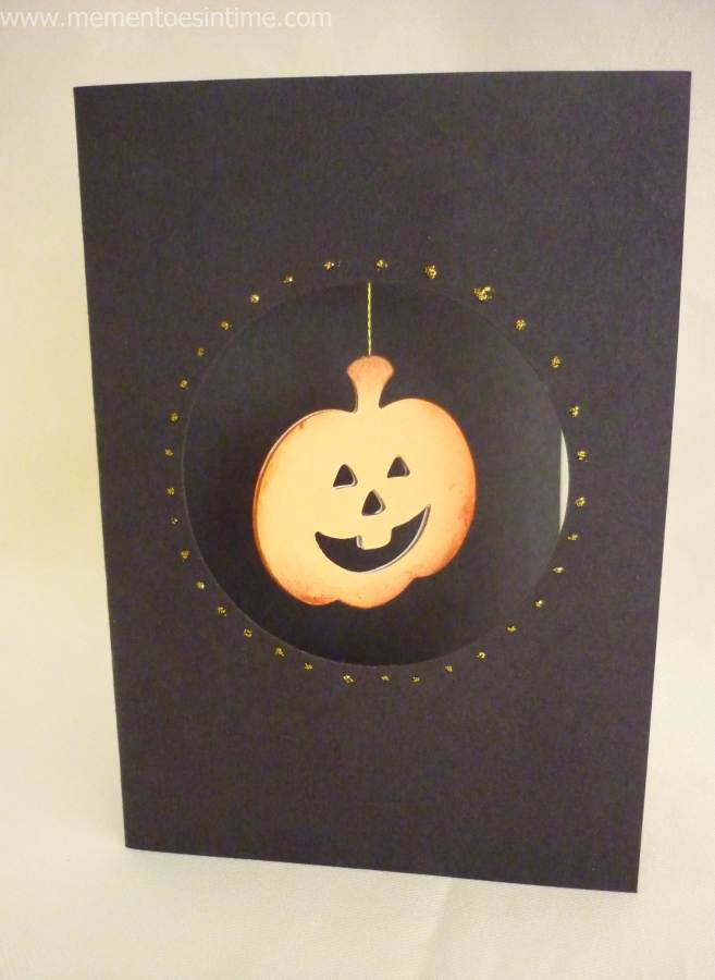 Beautiful Halloween Card Making Ideas Part - 5: Hanging Jack O Lantern Card