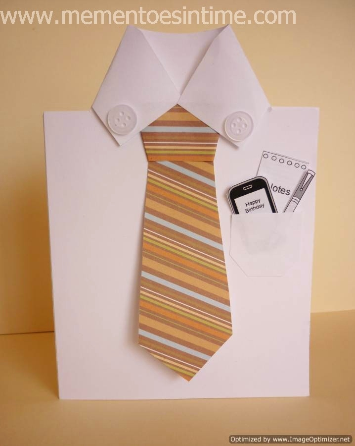 Exceptional Ideas For Retirement Cards To Make Part - 14: Shirt And Tie Card With Bonus Printable