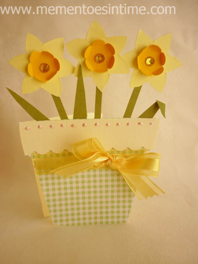 Card Making Ideas And Templates Part - 27: Daffodil Pot