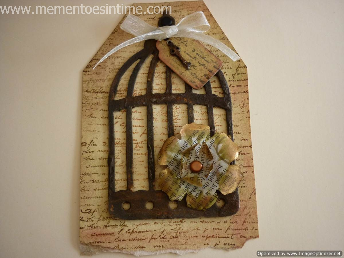 Rusted Birdcage Tag