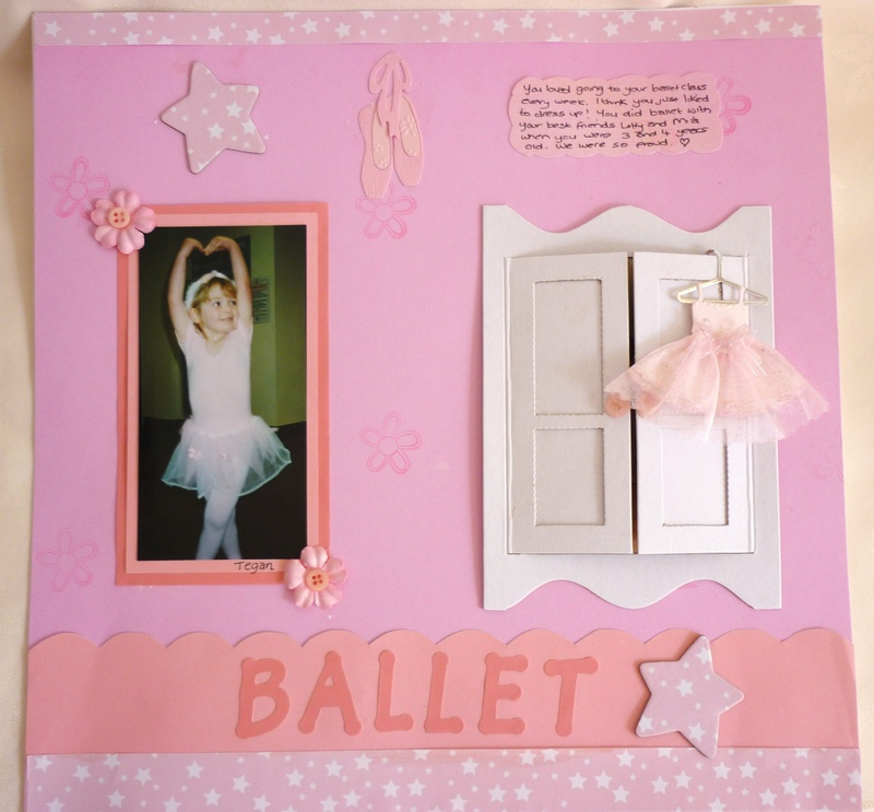Scrapbook using wardrobe doors
