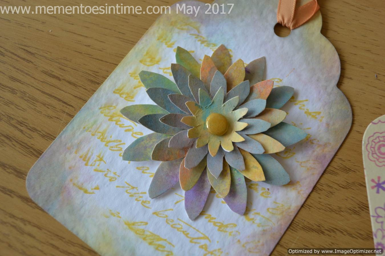 Daisy Tag With Layered Flower Template Number 3