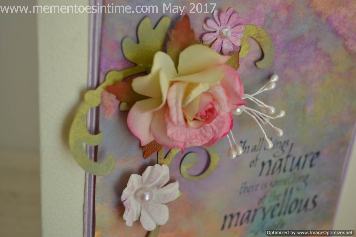 Pastel Background with Flowers