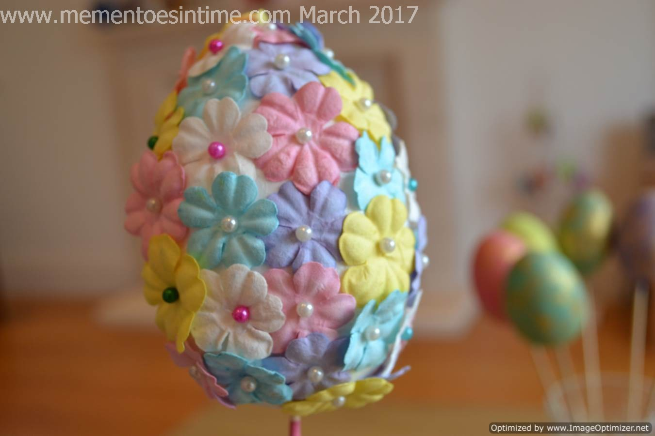 Flower Covered Easter Egg
