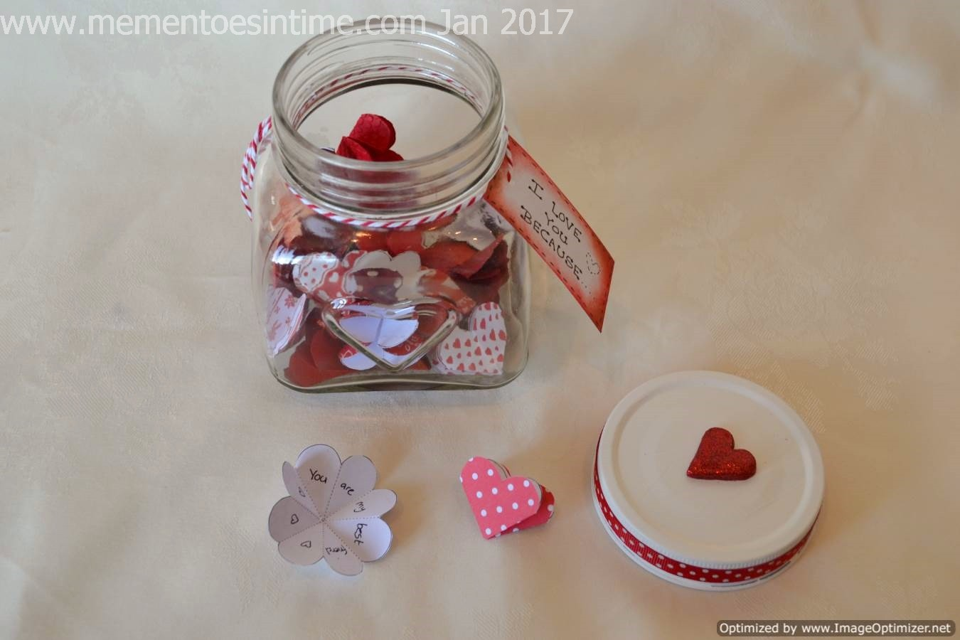 Heart Sentiment Jar