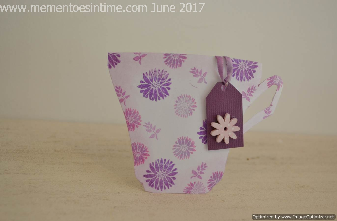 Floral Purple Teacup