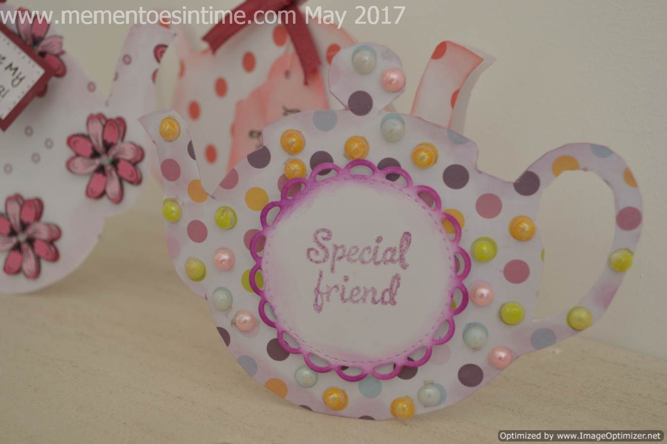 Teapot Cards - Spotty